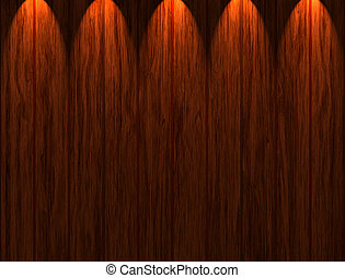 Wooden Panels - Illuminated wooden panels texture and...