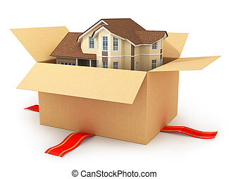 Moving house Real estate market Three-dimensional image