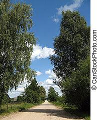 Country-side road near Minsk, Belarus