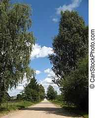 Country-side road near Minsk, Belarus