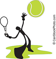 tennis shadow man