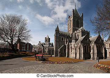 Christ Church Cathedral (Holy Trinity) in Dublin, Ireland -...