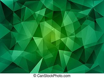 verde, triángulos