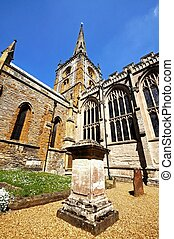 Holy Trinity church, Stratford - Gravestones with the Holy...