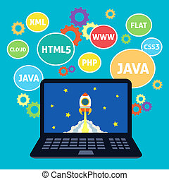 Web design coding - Websites web design xml java html5...