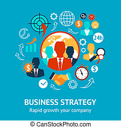 Business and management modern concept - Business and...