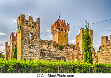 Scaliger Castle at Lazise, Lake Garda, Italy - Scaliger...