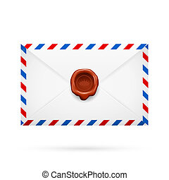 Envelope with stamp