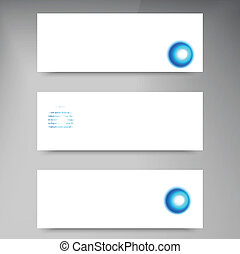 Set of modern vector banners with