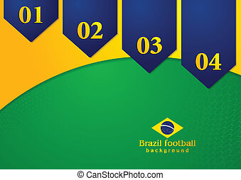 Abstract background in Brazilian colors