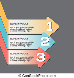 Design infographic elements, template, 123, simple vector