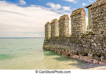 Scaliger Castle, Sirmione, Italy - Scaliger Castle on the...
