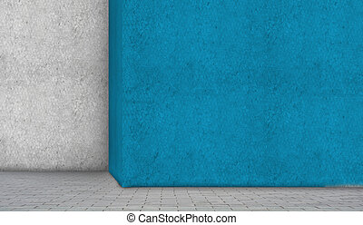 Home renovation - Abstract image of wall painted in blue....