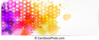 Abstract horizontal banner with modern design