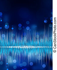 Abstract bokeh waveform vector background. EPS 8