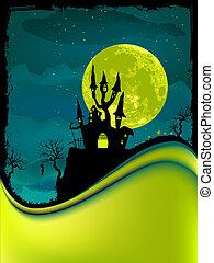 Illustration of dark scary halloween night. EPS 8
