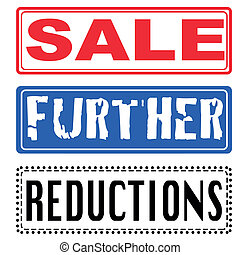 sale, futher, reductions stamp