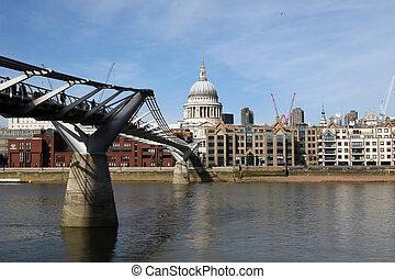 Millenium bridge in London UK