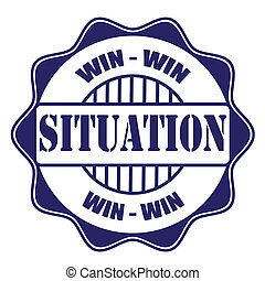 win-win situation stamp