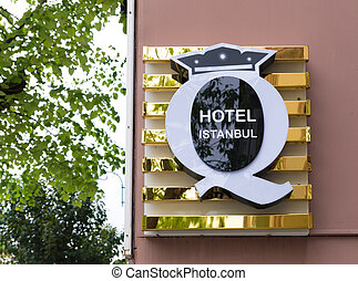 hotel sign in istanbul