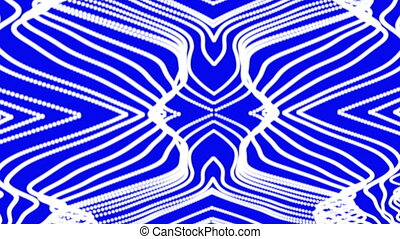 Waving white lines on a blue background