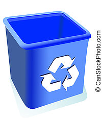 Recycle, reuse, reduce - Blue Recycle, reuse, reduce