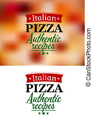 Pizza menu elements