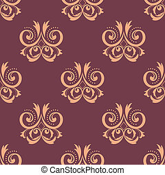 Purple and pink seamless floral pattern