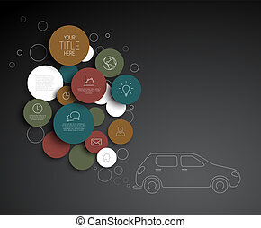 Vector abstract circles pollution infographic template -...