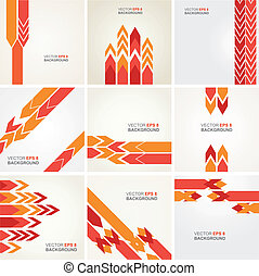 Abstract vector layout design - Set of 9 abstract...