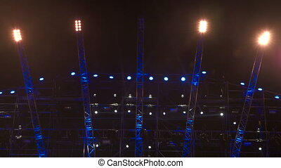 Stage lighting at rock concert