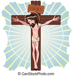The Crucifixion of Jesus Christ - Illustration Of Jesus...