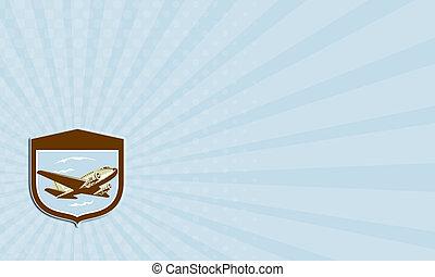 dc10, schild, zakelijk, vliegen,  Retro,  Propeller, vliegtuig, kaart