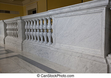 stair railings made of marble and granite