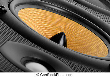 Music speaker - close up of A high end audio speaker