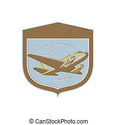 dc10, schild, vliegen, metalen,  Retro,  Propeller, vliegtuig
