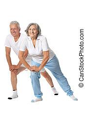 Portrait of Elder Couple - Portrait of Senior Couple...