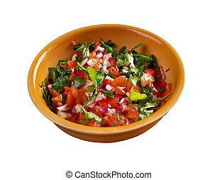 Pico de gallo - In Mexican cuisine.also called salsa...