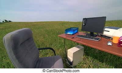Place of work for telecommuter - personal computer and...