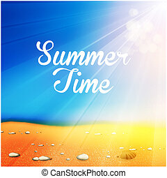 Summer Time Background, you cen easy all editable