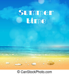 Summer Time, summer background with place for your text easy...