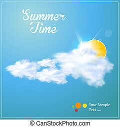 Summer paper background