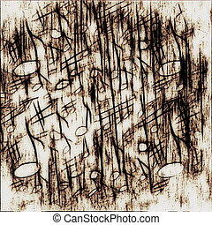 old grunge musical notes background