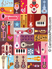Music Graphic Design - Music Festival - vector graphic...