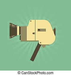 Retro hand film camera