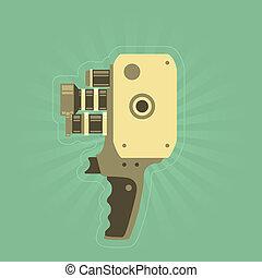 Retro film (video) camera