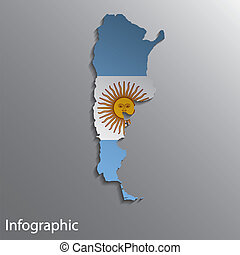 Country Map of Argentina