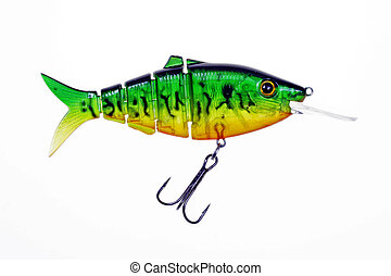 Fishing Lure - fishing lure isolated on a white background