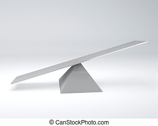 seesaw Balance concept - image of white seesaw balance...