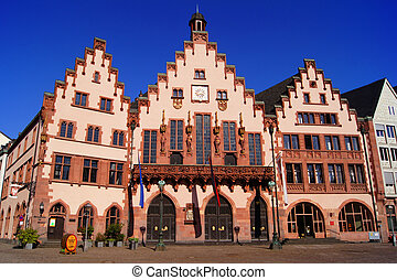 Romer Square, Frankfurt - Buildings of Romerburg square in...